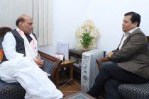 Sonowal meets Rajnath, discuss Indo-Bangla border sealing