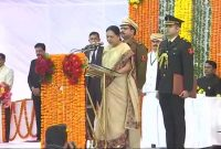 Anandiben Patel takes oath as new MP Governor