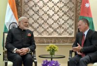 Prime Minister, Narendra Modi with the King of Jordan His Majesty Abdullah II Bin Al-Hussein