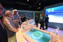 "The Prime Minister, Narendra Modi at the ""Museum of the future"", at Dubai, United Arab Emirates"