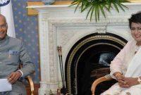 President, Shri Ram Nath Kovind meeting the President of the Republic of Mauritius, Mrs. Ameenah Gurib-Fakim,
