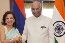 Mrs Santi Bai Hanoomanjee, GCSK, Speaker, National Assembly of Mauritius, called on the President of India, Shri Ram Nath Kovind
