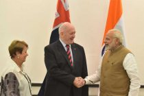 The Governor General of Australia, Sir Peter Cosgrove meeting the Prime Minister, Shri Narendra Modi