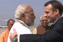 Modi receives Macron in Varanasi