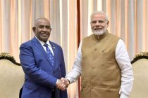 Prime Minister, Shri Narendra Modi meeting the President of Comoros, Mr. Azali Assoumani