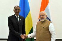 The Prime Minister, Shri Narendra Modi meeting the President of Rwanda, Mr. Paul Kagame