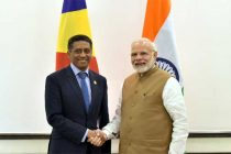 The Prime Minister, Shri Narendra Modi meeting the President of Seychelles, Mr. Danny Faure,