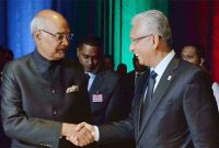 President, Ram Nath Kovind at the Banquet hosted by the Prime Minister of the Republic of Mauritius, Pravind Kumar Jugnauth