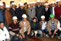 A. K. BHALLA, SECRETARY (POWER) VISITS KISHANGANGA PROJECT (330 MW)