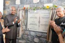 President, Ram Nath Kovind unveiling the Foundation Stone of World Hindi Secretariat, at Port Louis