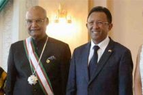 President of India, Ram Nath Kovind conferred Grand Cross of the Second Class by the President of Madagascar, Hery Rajaonarimampianina