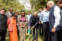 President plants Baobab sapling