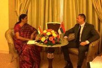 Raksha Mantri Nirmala Sitharaman meeting with Defence Minister of Republic of Serbia Aleksandar Vulin