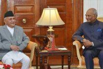 Mr. K.P. Sharma Oli, Prime Minister of Nepal, called on the President of India, Shri Ram Nath Kovind