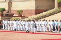 Nepal PM accorded ceremonial welcome