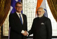The Prime Minister, Shri Narendra Modi meeting the Prime Minister of Finland, Mr. Juha Sipila