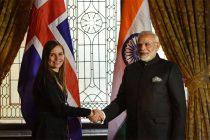 Prime Minister, Narendra Modi meeting the Prime Minister of Iceland, Katrín Jakobsdottir