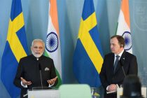 Modi meets Swedish PM ahead of talks