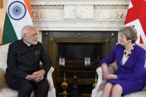 The Prime Minister, Shri Narendra Modi meeting the Prime Minister of United Kingdom, Ms. Theresa May