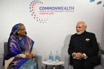 The Prime Minister, Shri Narendra Modi meeting the Prime Minister of Bangladesh, Ms. Sheikh Hasina