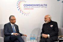 The Prime Minister, Shri Narendra Modi meeting the Prime Minister of Mauritius, Mr. Pravind Jugnauth