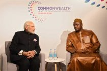 The Prime Minister, Shri Narendra Modi meeting the President of Gambia, Mr. Adama Barrow