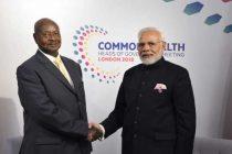 The Prime Minister, Shri Narendra Modi meeting the President of Uganda, Mr. Yoweri Museveni