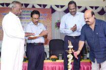 Dr. Sarat Kumar Acharya, CMD, NLCIL, inaugurates the renovated St. Joseph Higher Secondary School building