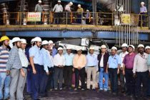 Rebuilt Blast Furnace-1 'Parvati' of SAIL, Rourkela Steel Plant blown in