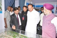 Vice President lays Foundation Stone for WTC in Nauroji Nagar