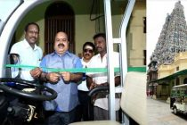 NLCIL provides Battery Car to Madurai Meenakshi Temple -CSR