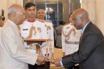The High Commissioner – Designate of the Kingdom of Lesotho, Bothata Tsikoane presenting his credentials to the President, Ram Nath Kovind