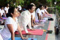 Maharashtra Governor joins yoga session at Raj Bhavan