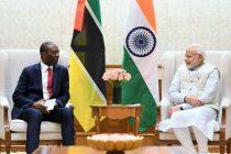 Prime Minister of Mozambique, Carlos Agostinho do Rosario calls on the Prime Minister, Narendra Modi,