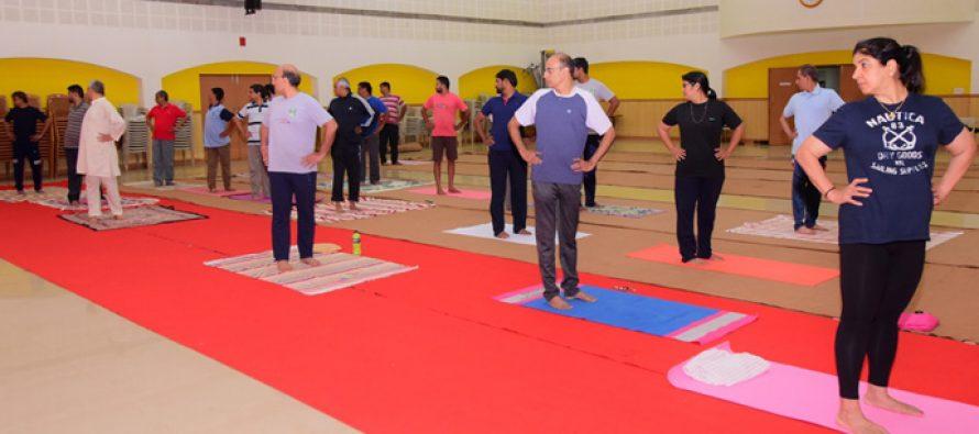 International Yoga Day celebrated in MRPL