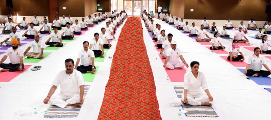 NHPC celebrates 4th International Day of Yoga