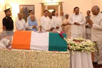 Vajpayee's mortal remains taken to BJP headquarters