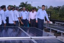 1064 KW Solar Power Panels installed in Open Terraces of Office Buildings in Neyveli