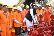 Petroleum Minister visits ONGC Ankleswar Asset; puts well to production