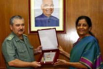 Raksha Mantri Nirmala Sitharaman and the Defence Minister of Uzbekistan Major General Abdusalom Azizov
