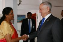 Raksha Mantri Nirmala Sitharaman receiving the US Secretary of Defence James Mattis