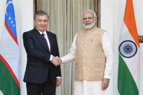 Prime Minister, Narendra Modi with the President of the Republic of Uzbekistan, Shavkat Mirziyoyev