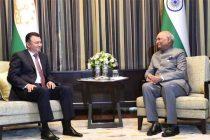 Kohir Rasulzoda, Prime Minister of Tajikistan Called on The President of India, Ram Nath Kovind