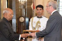 Ambassador – Designate of the Kingdom of Belgium, Francois Delhaye presenting his credentials to the President, Ram Nath Kovind