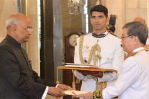 Ambassador – Designate of the Kingdom of Cambodia, Ung Sean presenting his credentials to the President, Ram Nath Kovind