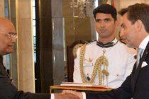 Ambassador – Designate of Portugal, Carlos Jose de Pinho e Melo Pereira Marques presenting his credentials to the President, Ram Nath Kovind