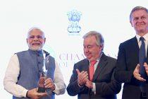 PM Modi receives UN Champions of the Earth award