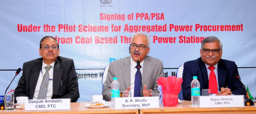 State Discoms and IPPs ink PSAs & PPAs for 1900 MW for 3 years under the Pilot Scheme of Ministry of Power