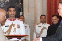 The Ambassador – Designate of the Republic of Latvia, Artis Bertulis presenting his credentials to the President, Ram Nath Kovind