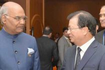 President, Ram Nath Kovind being received by the Deputy Prime Minister of Vietnam, Vuong Dinh Hue